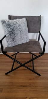 Warm Gray Faux Leather Derek Director's Chair in Fort Carson, Colorado