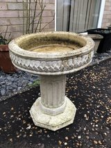 Stone Bird Bath in Lakenheath, UK