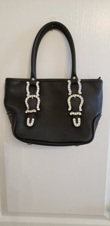 Black purse with a little bling in Conroe, Texas