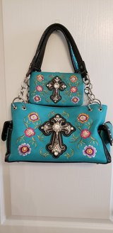 Turquoise  purse and wallet in Conroe, Texas