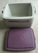 Coleman Personal 8 Cooler Maroon/White in Glendale Heights, Illinois