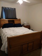 Queen Bed with Mattress and Nightstand in Quantico, Virginia