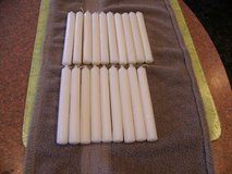 19 Unscented White 7 inch Candles in Chicago, Illinois