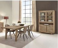 United Furniture - Evian  Dining set with China + Table 160 + 4 Chairs + delivery in Ansbach, Germany