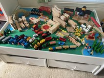 Train Table, Tracks, and Trains in Camp Pendleton, California