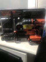 Black and decker20v drill set 44pcs in Beaufort, South Carolina