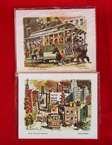 San Francisco vintage greeting cards (2) in Okinawa, Japan