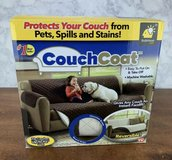 NEW Couch Coat Brown Reversible Microfiber Couch Cover by BulbHead As Seen On TV in Yorkville, Illinois