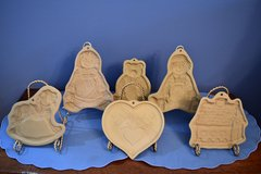 5 Brown Bag Cookie Art Clay Molds in Plainfield, Illinois