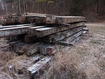 Old Barn Timbers in Fort Campbell, Kentucky