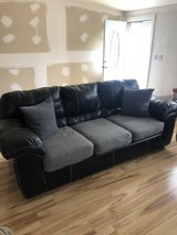 Black Leather Couch-$250 in Camp Lejeune, North Carolina