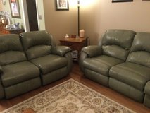Matching Leather, Reclining COUCH and LOVESEAT in Yorkville, Illinois