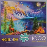 Jigsaw puzzle- Night & Day in Naperville, Illinois