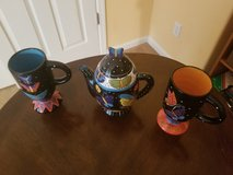 Laurel Burch GANZ BUTTERFLIES Teapot and Matching Tall Mugs in Sacramento, California