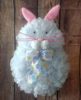 Mesh Easter Bunny Pancake Wreath in Camp Lejeune, North Carolina
