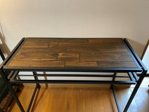 Almost New Industrial Wooden Table in Okinawa, Japan