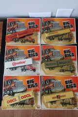 Lot of 6 Vintage 1981 Zee Toys Big Rigs Semi Die Cast Metal Toy Truck & Trailers in Chicago, Illinois