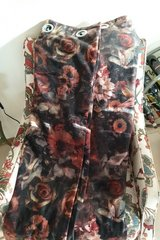 Velveteen floral blackout curtains in Ramstein, Germany