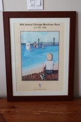 Vintage Chicago Yacht Club Race to Mackinac Framed Print 1996 in Chicago, Illinois