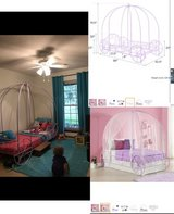 DHP Metal Carriage Bed, Fairy Tale Bed Frame, Shabby-Chic Style, Twin, Lilac in Beaufort, South Carolina