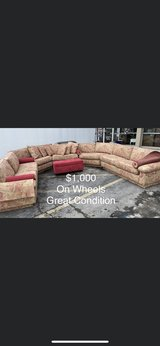 Ottoman and Sectional on Wheels in Fort Leonard Wood, Missouri