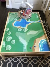 Train/Car play Table with 4 under storage compartments. in Naperville, Illinois
