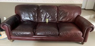 Large leather Couch in Okinawa, Japan