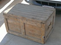 old wooden chest in 29 Palms, California