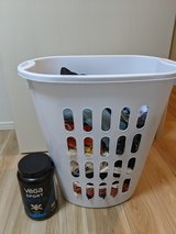 Clothes ladies size S (6-8) in laundry basket in Okinawa, Japan