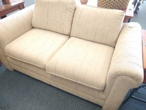 Light Tan Textured Love Seat in Chicago, Illinois