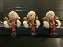 Heavy Duty Snowmen Christmas Stocking Holders for Fireplace Mantle in Chicago, Illinois
