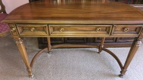 Elegant Vintage French Demilune Desk in Chicago, Illinois