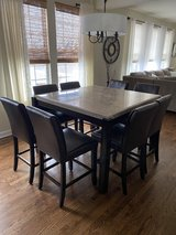Marble Dining Table and Chairs in Quantico, Virginia