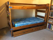 Sturdy bunk bed with mattress in Alamogordo, New Mexico