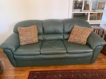 Matching green leather sofa and loveseat in Alamogordo, New Mexico