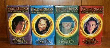 THE LORD OF THE RINGS GLASS GOBLET COLLECTION OF ALL 4  2001 BURGER KING in Fort Polk, Louisiana