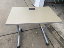 Nice office quality computer tables with rollers and power cable.  only 2 left & available in Fort Polk, Louisiana