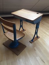 Antique Child's Desk and Chair in Wiesbaden, GE