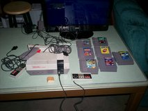 nintendo nes system & 7 games & 2 controllers & hookups - tv is not included in Elizabethtown, Kentucky
