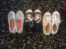 Three woman's shoes coach and keds in Yorkville, Illinois