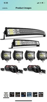 Led Light Bar T-Former 5D 42 Inch Curved Light Bar + 22 Inch Curved Led Bar Kits + 4Pcs 4 Inch 6... in Beaufort, South Carolina