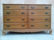 Dresser all solid maple wood construction with 8 drawers by Colonial Craft MSRP 325.00 in Yucca Valley, California