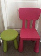 Children's /kids chair and stool lot in Ramstein, Germany
