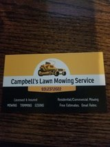 Campbell's Lawn Mowing Service $30 weekly cuts up to one quarter acre in Fort Campbell, Kentucky
