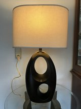 2 table lamps (120 V) with 220 V bulbs and wall adapters supplied in Wiesbaden, GE
