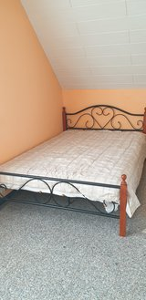 Queen Bed w/ Mattress in Ramstein, Germany