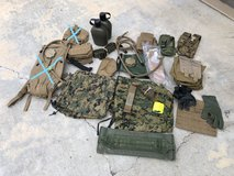USMC CIF Issued Coyote Molle Field Pouches Gear in Camp Pendleton, California