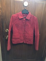 soft red leather jacket in Plainfield, Illinois