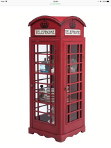 British phone booth life size curio cabinet in Ramstein, Germany