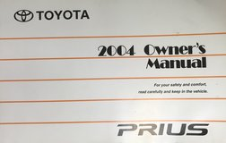 Toyota Prius Second Generation English Owners Manual 2003-2009 in Okinawa, Japan